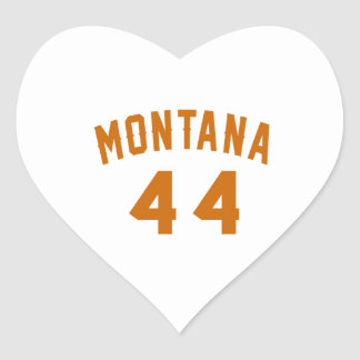 Montana 44 Birthday Designs Heart Sticker