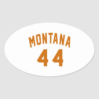 Montana 44 Birthday Designs Oval Sticker