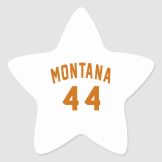 Montana 44 Birthday Designs Star Sticker