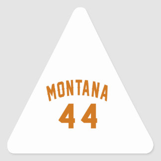Montana 44 Birthday Designs Triangle Sticker