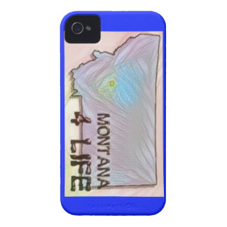 """Montana 4 Life"" State Map Pride Design Case-Mate iPhone 4 Case"