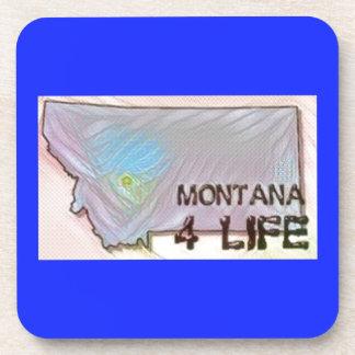 """Montana 4 Life"" State Map Pride Design Coaster"