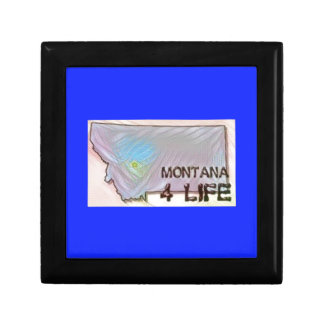 """Montana 4 Life"" State Map Pride Design Gift Box"