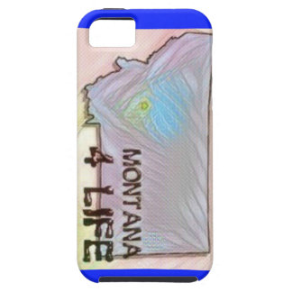 """""""Montana 4 Life"""" State Map Pride Design iPhone 5 Covers"""
