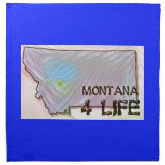 """Montana 4 Life"" State Map Pride Design Napkin"