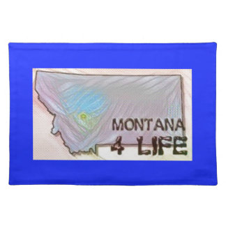 """""""Montana 4 Life"""" State Map Pride Design Placemat"""