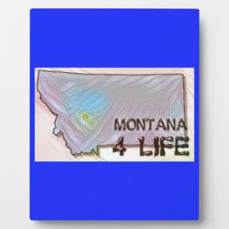 """""""Montana 4 Life"""" State Map Pride Design Plaque"""