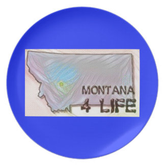 """Montana 4 Life"" State Map Pride Design Plates"
