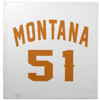 Montana 51 Birthday Designs Napkin