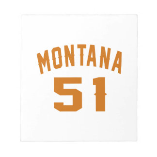 Montana 51 Birthday Designs Notepad