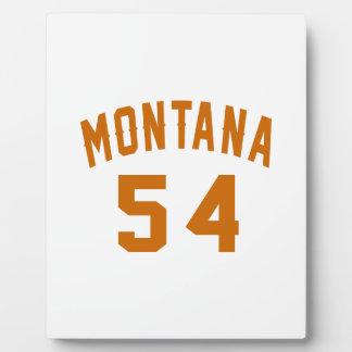Montana 54 Birthday Designs Plaque