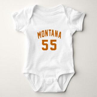 Montana 55 Birthday Designs Baby Bodysuit