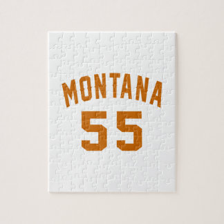 Montana 55 Birthday Designs Jigsaw Puzzle