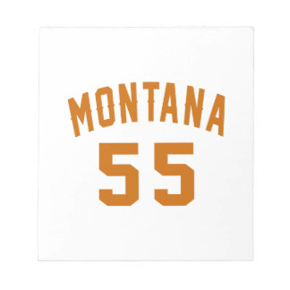 Montana 55 Birthday Designs Notepad