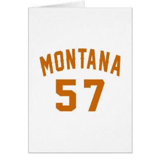 Montana 57 Birthday Designs Card