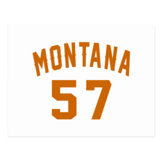 Montana 57 Birthday Designs Postcard