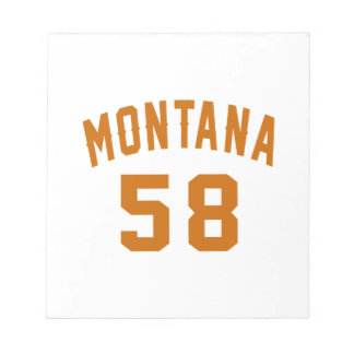 Montana 58 Birthday Designs Notepad