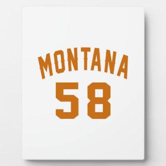 Montana 58 Birthday Designs Plaque