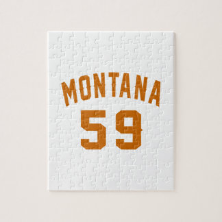 Montana 59 Birthday Designs Jigsaw Puzzle