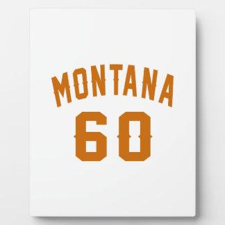 Montana 60 Birthday Designs Plaque