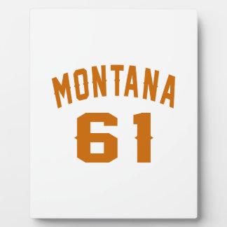 Montana 61 Birthday Designs Plaque