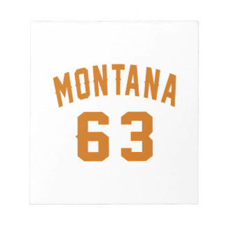 Montana 63 Birthday Designs Notepad