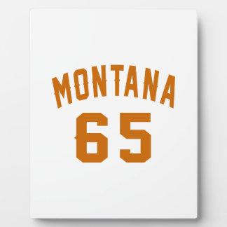 Montana 65 Birthday Designs Plaque