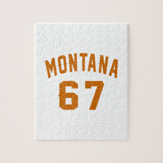 Montana 67 Birthday Designs Jigsaw Puzzle