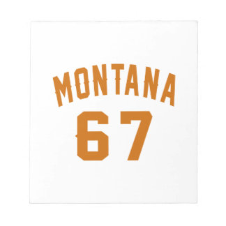 Montana 67 Birthday Designs Notepad