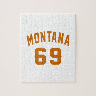 Montana 69 Birthday Designs Jigsaw Puzzle