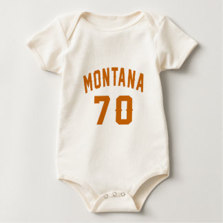 Montana 70 Birthday Designs Baby Bodysuit