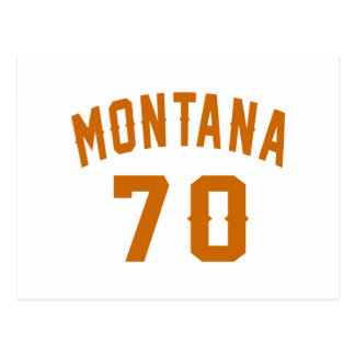 Montana 70 Birthday Designs Postcard