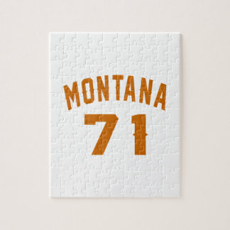Montana 71 Birthday Designs Jigsaw Puzzle