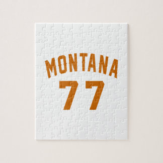 Montana 77 Birthday Designs Jigsaw Puzzle