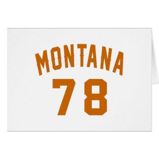 Montana 78 Birthday Designs Card