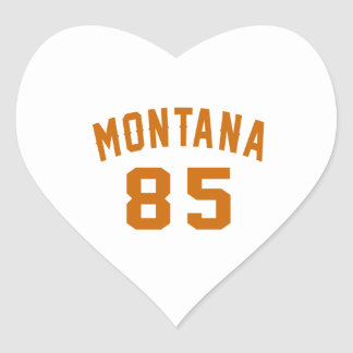 Montana 85 Birthday Designs Heart Sticker