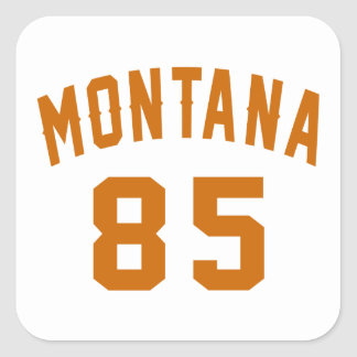 Montana 85 Birthday Designs Square Sticker