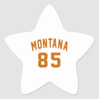 Montana 85 Birthday Designs Star Sticker