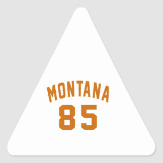 Montana 85 Birthday Designs Triangle Sticker