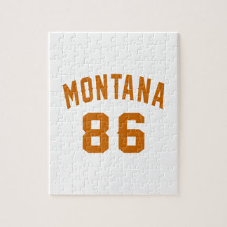 Montana 86 Birthday Designs Jigsaw Puzzle