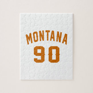 Montana 90 Birthday Designs Jigsaw Puzzle