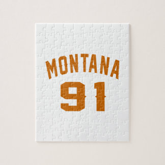 Montana 91 Birthday Designs Jigsaw Puzzle
