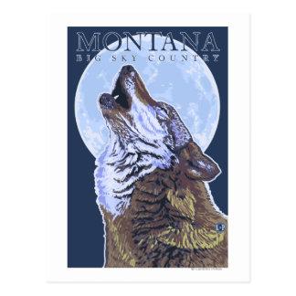 Montana -- Big Sky CountryHowling Wolf Postcard