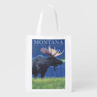 Montana -- Big Sky CountryMoose in Moonlight