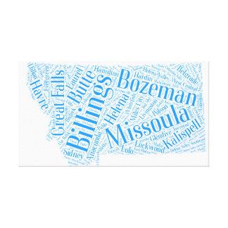 Montana - blue canvas print
