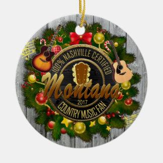 Montana Country Music Fan Christmas Ornament