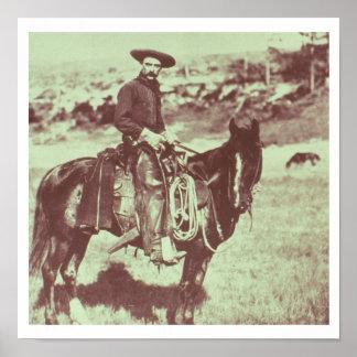 Montana Cowboy, c.1880 (b/w photo) Poster