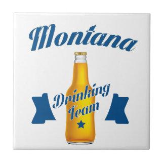 Montana Drinking team Ceramic Tile