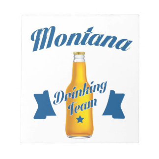 Montana Drinking team Notepad