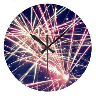 Montana Fireworks Wall Clock